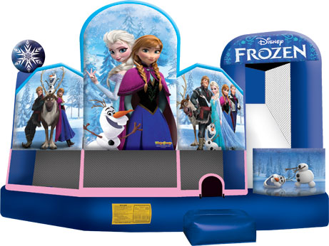 Frozen Jumping Castle 5in1 Combo Front shot